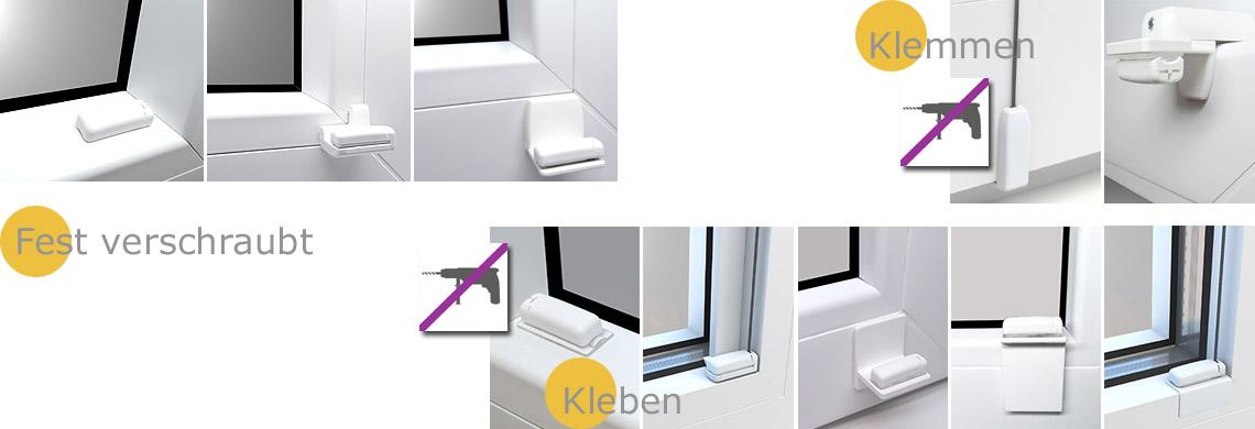 Faltstore-Plissee Montage Fenster