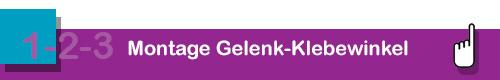 Montage mit Gelenk-Klebewinkel