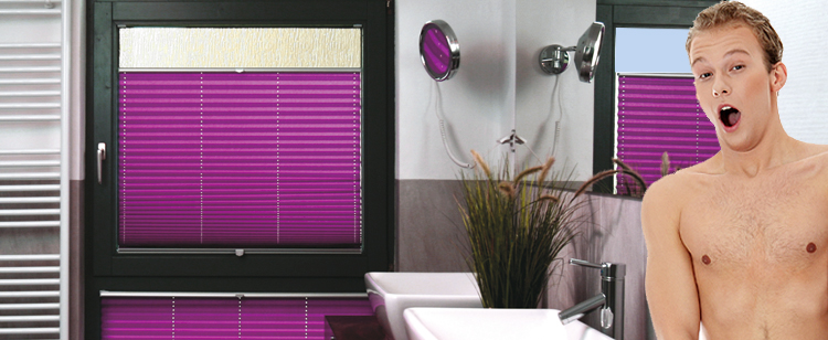 Badezimmer Plissee