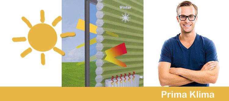 Hitzeschutz und Kälteschutz Plissees