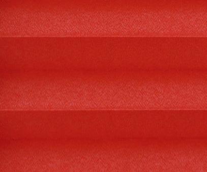 Plissee Angela rot lichtdurchlässig blickdicht/Sichtschutz. Kreppstruktur, PG0