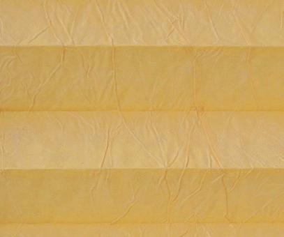 Plissee Isabella gelborange lichtdurchlässig blickdicht/Sichtschutz. Crush, PG2