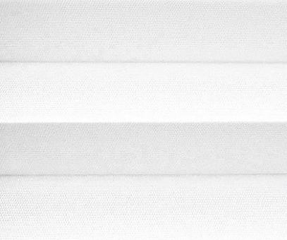 Plissee Isabella weiß lichtdurchlässig blickdicht/Sichtschutz/Trevira CS, schwerentflammbar PG2