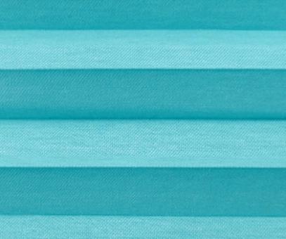 Plissee Loretta blau lichtdurchlässig blickdicht Sichtschutz, Fenster Dekoration, PG1