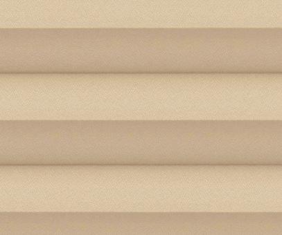 Plissee Isabella beige, Verdunkelung zum Sparpreis, Rückseite weiß, PG2, Kreppstruktur