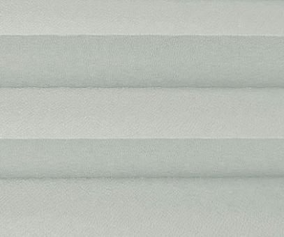 Plissee Isabella silbergrau, Verdunkelung zum Sparpreis, Rückseite weiß, PG2, Kreppstruktur