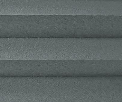 Plissee Isabella grau, Verdunkelung zum Sparpreis, Rückseite weiß, PG2, Kreppstruktur