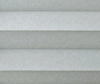 Plissee Donata grau Verdunkelung, blickdicht/Sonnenschutz/Hitzeschutz, Rückseite Perlmutt, PG3
