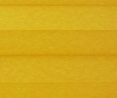Plissee Donata gelb Verdunkelung, blickdicht/Sonnenschutz/Hitzeschutz, Rückseite Perlmutt, PG3