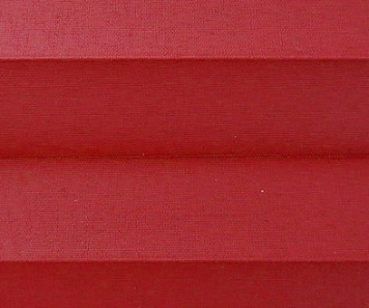 Plissee Donata rot Verdunkelung, blickdicht/Sonnenschutz/Hitzeschutz, Rückseite Perlmutt, PG3