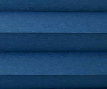 Plissee Donata blau Verdunkelung, blickdicht/Sonnenschutz/Hitzeschutz, Rückseite Perlmutt, PG3