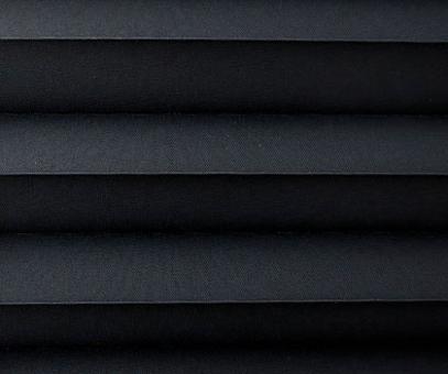 Plissee Donata schwarz Verdunkelung, blickdicht/Sonnenschutz/Hitzeschutz, Rückseite Perlmutt, PG3