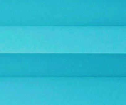 Plissee Donata lichtblau Verdunkelung, blickdicht/Sonnenschutz/Hitzeschutz, Rückseite Perlmutt, PG3