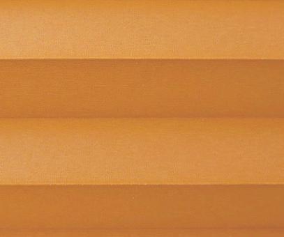 Plissee Donata orange Verdunkelung, blickdicht/Sonnenschutz/Hitzeschutz, Rückseite Perlmutt, PG3