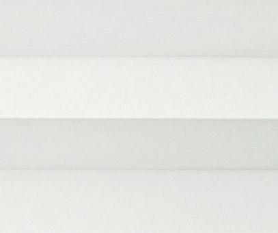 Plissee Donata weiß Verdunkelung, blickdicht/Sonnenschutz/Hitzeschutz, Rückseite Perlmutt, PG3