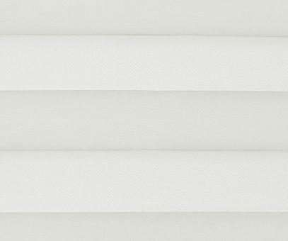 Plissee Loretta weiß lichtdurchlässig blickdicht  Sichtschutz/Sonnenschutz. PG1