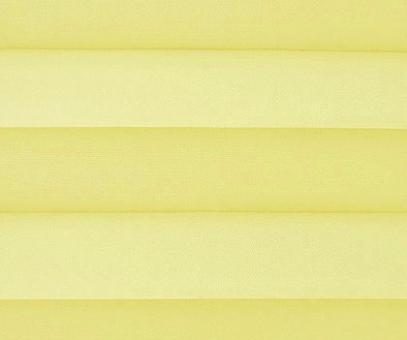Plissee Loretta gelb lichtdurchlässig blickdicht  Sichtschutz/Sonnenschutz. PG1