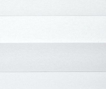 Plissee Loretta weiß lichtdurchlässig blickdicht, Sichtschutz/Sonnenschutz, PG1