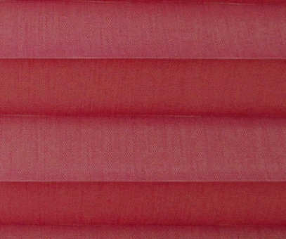 Plissee Loretta rot lichtdurchlässig blickdicht, Sichtschutz/Sonnenschutz, PG1