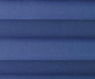Plissee Loretta blau lichtdurchlässig blickdicht  Sichtschutz/Sonnenschutz. PG1