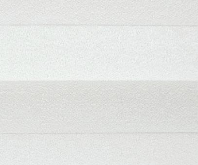 Plissee Angela weiß lichtdurchlässig blickdicht/Sichtschutz/Sonnenschutz. Kreppstruktur, PG0