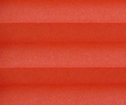Plissee Angela rot lichtdurchlässig blickdicht/Sichtschutz/Sonnenschutz. Kreppstruktur, PG0