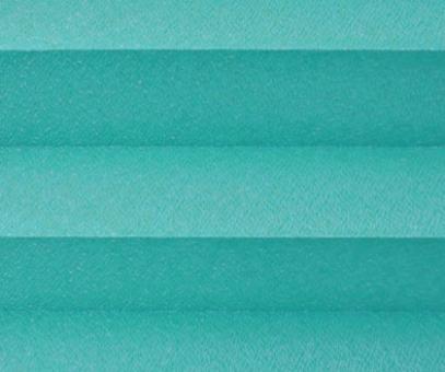 Plissee Angela türkis lichtdurchlässig blickdicht/Sichtschutz/Sonnenschutz. Kreppstruktur, PG0
