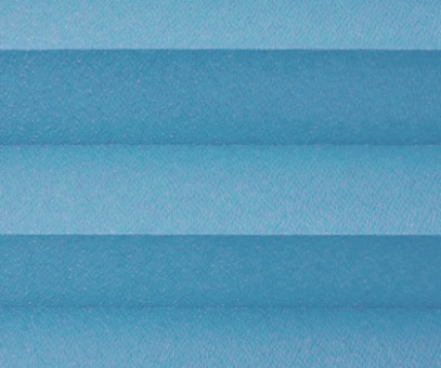 Plissee Angela blau lichtdurchlässig blickdicht/Sichtschutz/Sonnenschutz. Kreppstruktur, PG0