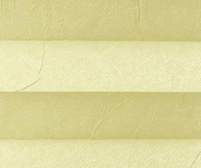 Plissee Loretta vanille lichtdurchlässig blickdicht/Sichtschutz/Sonnen- schutz. Crush Optik, PG1