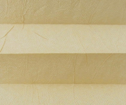 Plissee Loretta beige lichtdurchlässig blickdicht/Sicht-/Sonnenschutz. Crush Optik, PG1