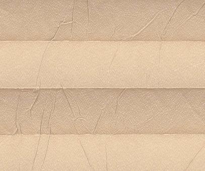 Plissee Loretta beige lichtdurchlässig blickdicht/Sichtschutz/Sonnen- schutz. Crush Optik, PG1