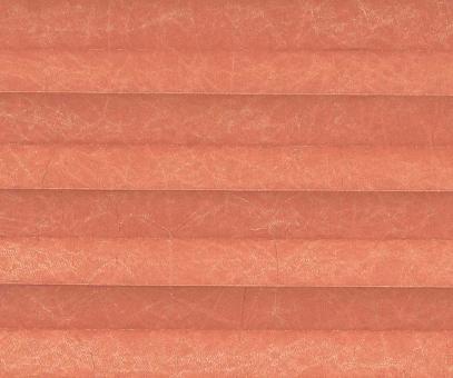 Plissee Loretta terrakotta licht- durchlässig blickdicht/Sicht-/ Sonnenschutz. Crush, PG1