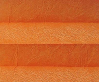 Plissee Loretta orange lichtdurchlässig blickdicht/Sicht-/Sonnenschutz. Crush Optik, PG1