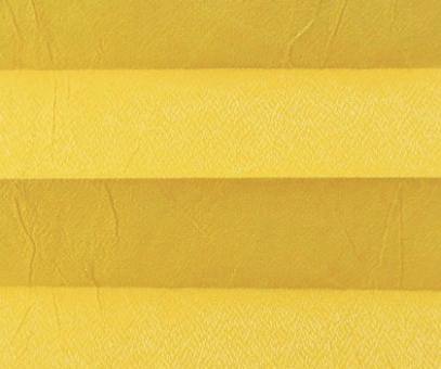 Plissee Loretta gelb lichtdurchlässig blickdicht/Sichtschutz/Sonnen- schutz. Crush Optik, PG1