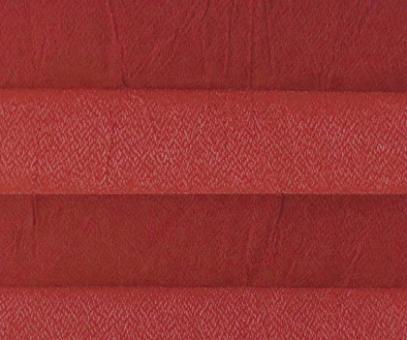 Plissee Loretta rot lichtdurchlässig blickdicht/Sichtschutz/Sonnen- schutz. Crush Optik, PG1