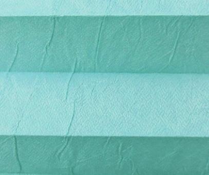 Plissee Loretta türkis lichtdurchlässig blickdicht/Sichtschutz/Sonnen- schutz. Crush Optik, PG1