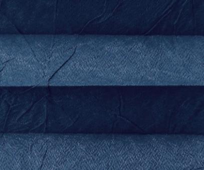 Plissee Loretta blau lichtdurchlässig blickdicht/Sichtschutz/Sonnen- schutz. Crush Optik, PG1