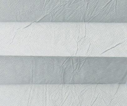 Plissee Loretta silbergrau licht- durchlässig blickdicht  Sicht-/ Sonnenschutz. Crush, PG1