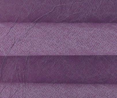 Plissee Loretta lila lichtdurchlässig blickdicht/Sichtschutz/Sonnen- schutz. Crush Optik, PG1