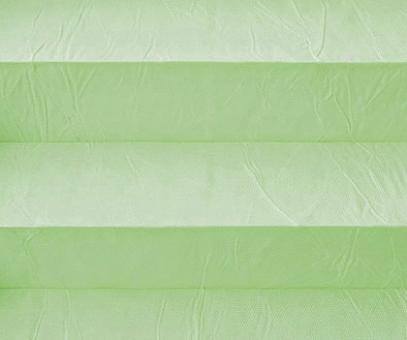 Plissee Isabella pastellgrün lichtdurchlässig blickdicht/Sicht-/ Sonnenschutz. Crush, PG2