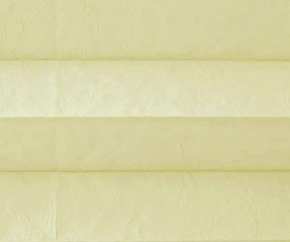 Plissee Isabella sandgelb lichtdurchlässig blickdicht/Sicht-/ Sonnenschutz. Crush, PG2