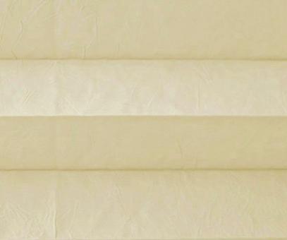 Plissee Isabella blassbeige lichtdurchlässig blickdicht/Sicht-/ Sonnenschutz. Crush, PG2