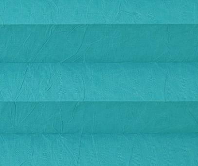 Plissee Isabella türkisblau lichtdurchlässig blickdicht/Sicht-/ Sonnenschutz. Crush, PG2