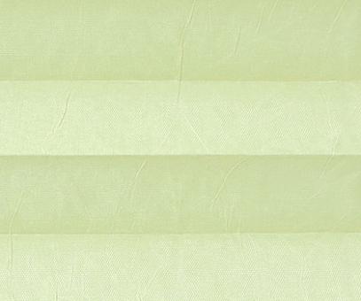 Plissee Isabella zartgelb lichtdurchlässig blickdicht/Sicht-/Sonnenschutz. Crush Optik, PG2