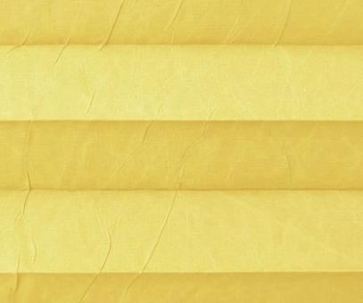 Plissee Isabella gelb lichtdurchlässig blickdicht/Sicht-/ Sonnenschutz. Crush, PG2