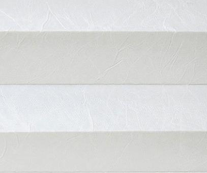 Plissee Isabella weiß lichtdurchlässig blickdicht/Sicht-/ Sonnenschutz. Crush, PG2