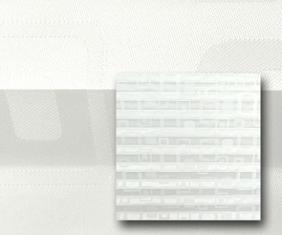 Plissee Donata weiß lichtdurchlässig/blickdicht Dekoration/Grafik Muster, PG3