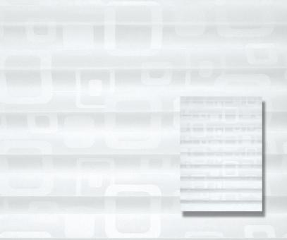 Plissee cosiflor weiß lichtdurchlässig/blickdicht Dekoration/Grafik Muster PG2