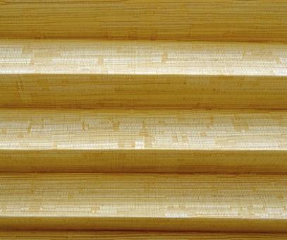 Plissee Donata goldgelb, lichtdurchlässig blickdicht, Nature-Look, PG3