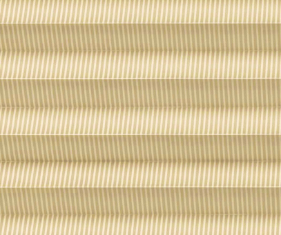 Plissee Isabella beige lichtdurchlässig blickdicht, Linien Muster PG2